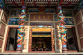 Chinese joss house front gate of in chonburi thailand Royalty Free Stock Photos