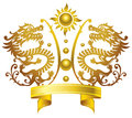Chinese king crown style dragon design Stock Photos