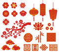 Chinese, Korean or Japan icons for Chinese New Royalty Free Stock Photo