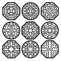 Chinese, korean traditional vector pattern Royalty Free Stock Photo