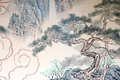 Chinese landscape painting classical of nature Stock Photo