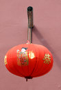 Chinese lantern traditional hanging on the wall Royalty Free Stock Photography