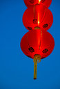 Chinese lanterns group of with blue sky Royalty Free Stock Photos