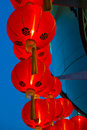 Chinese lanterns group of with blue sky Stock Image