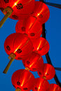 Chinese lanterns group of with blue sky Stock Photo