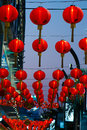 Chinese lanterns group of with blue sky Royalty Free Stock Image