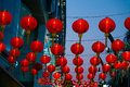 Chinese lanterns group of with blue sky Royalty Free Stock Photography