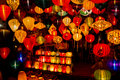 Chinese lanterns in hoi an vietnam shops selling Royalty Free Stock Image
