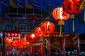 Image : Chinese lanterns red  shrine