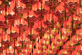Chinese lanterns red Στοκ εικόνα με δικαίωμα ελεύθερης χρήσης