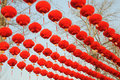 Chinese lanterns red new year festival decorated atmosphere jubilant blessing Royalty Free Stock Photos