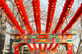 Chinese lanterns red new year festival decorated atmosphere jubilant blessing Royalty Free Stock Photography
