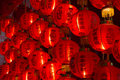 Chinese lanterns in a temple Stock Photography