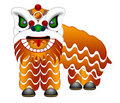Chinese Lion Dance Full Body Illustration Royalty Free Stock Images