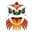Chinese Lion Dance Head Illustration Royalty Free Stock Photos