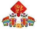 Čínština tanec pár symboly ilustrace