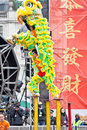 Chinese Lion Dancers Royalty Free Stock Photo