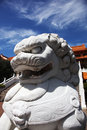 Chinese lion statue Royalty Free Stock Photo