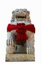 Chinese lion statue isolat Lizenzfreies Stockfoto