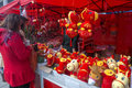 Chinese lunar new year decorations is the of horse in china this picture shows people buys horse mascots of spring festival in a Royalty Free Stock Image