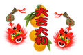 Chinese lunar new year greetings Royalty Free Stock Photos