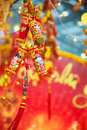 Chinese Lunar New Year ot Tet decorations, Vietnam Royalty Free Stock Photo