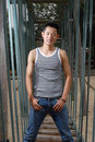 Chinese male model Royalty Free Stock Photo