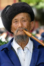Chinese man of Naxi tribe Stock Image