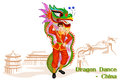 Chinese Man Performing Dragon ...