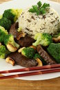 Chinese meal with broccoli Royalty Free Stock Photos