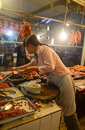 Chinese meat market in chengdu sichuan province china Royalty Free Stock Photo