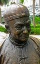 Chinese merchant`s statue, Singapore Royalty Free Stock Photo