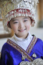 Chinese Miao nationality little girl Royalty Free Stock Photo