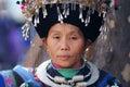 Chinese Miao nationality woman Royalty Free Stock Photo