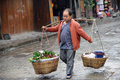 Chinese miao street seller Royalty Free Stock Image
