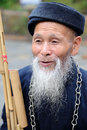 An chinese miaos old man Stock Photos