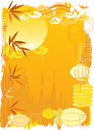 Chinese Mid-Autumn festival background Stock Photography