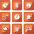 Chinese mid autumn festival icon set Royalty Free Stock Photo