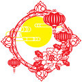 Chinese mid autumn festival and new year design element Stock Images