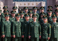 Chinese Military Police in Shanghai Royalty Free Stock Images