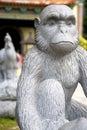 Chinese Monkey Animal Zodiac Statue Stock Image