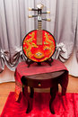 Chinese Moon Guitar Stock Image