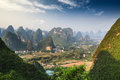 Chinese mountain landscape in guilin yangshuo Stock Photo