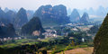 Chinese mountain landscape in guilin yangshuo Royalty Free Stock Photo