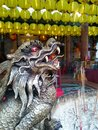 Chinese mythical creatures on incense burners Royalty Free Stock Photo