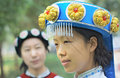 Chinese Naxi woman Royalty Free Stock Photography
