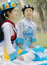 Chinese Naxi women Stock Photo