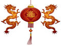 Chinese New Year 2012 Lantern Dragons Royalty Free Stock Image