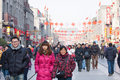 Chinese new year, Beijing Qianmen commercial st Royalty Free Stock Photos