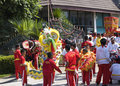 Chinese New Year Celebration  on Koh Samui Stock Images